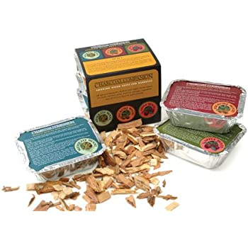 Charcoal Companion Hickory, Mesquite and Apple Wood Chip Sampler Pack