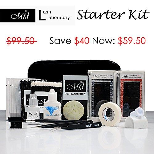 - 14 in 1 Starter Lash Artist Kit for Beginner Semi Permanent Individual Eyelash Extension Training