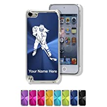 Personalized Case for iPod Touch 5th/6th Gen - Hockey Player Woman - Laser Engrave Your Name for Free