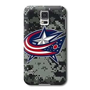 Allan Diy S5 case cover, NHL - Columbus Blue Jackets Camo - Samsung Galaxy S5 case cover - High Quality PC DTUunfmGDHj case cover