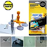 GLISTON Car Windshield Repair Kit for Chips and Cracks, Bulls-Eye, Spider Web, Star-Shaped, Nicks, Half-Moon Crescents