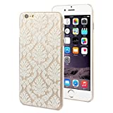 iPhone 6 Plus Case, Changeshopping Henna White Floral Paisley spindrift Case Cover
