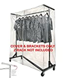 z rack cover - Clear Z Rack Cover with Zipper and Square Tube Bracket Combo Kit for Standard, Professional or Deluxe 5' Wide Z Racks (Z Racks Sold Separately)