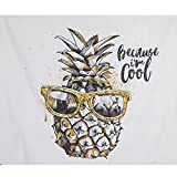 Mexidi Tapestry Wall Hangings Wall Blanket Art Dorm Shawl Beach Towel Throw Tapestry Decor Bedspread Bedroom Living Kids Girls Boys Room Dorm Accessories 51x59inchs (White-Colorful)