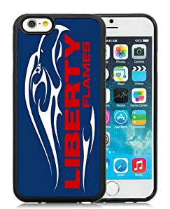 Hot Sale iPhone 6/iPhone 6S 4.7 Inch TPU Case ,NCAA Big South Conference Liberty Flames 2 Black iPhone 6/iPhone 6S Cover Unique And High Quality Designed Phone Case