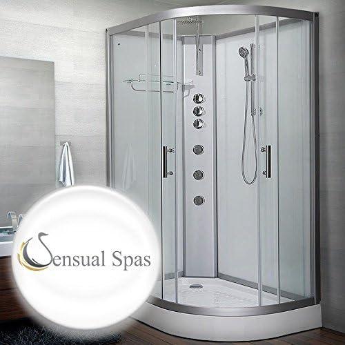 Sensual Spas Pure 1200 Izquierda Blanco cabina de ducha 1200 x 800 ...