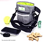 Paw-Lifestyles-Dog-Treat-Training-Pouch-Easily-Carries-Pet-Toys-Kibble-Treats-Built-in-Poop-Bag-Dispenser-3-Ways-to-Wear-Grey