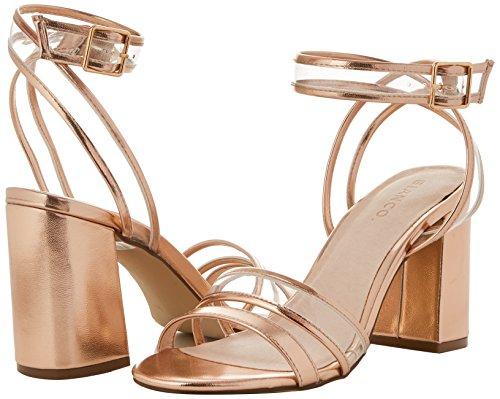 Transparent 94 Caviglia Donna Sandali Open Oro Cinturino Con Bianco Shoe Alla bronze Uxg1wqn6S