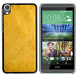 Paccase / SLIM PC / Aliminium Casa Carcasa Funda Case Cover - Yellow background - HTC Desire 820