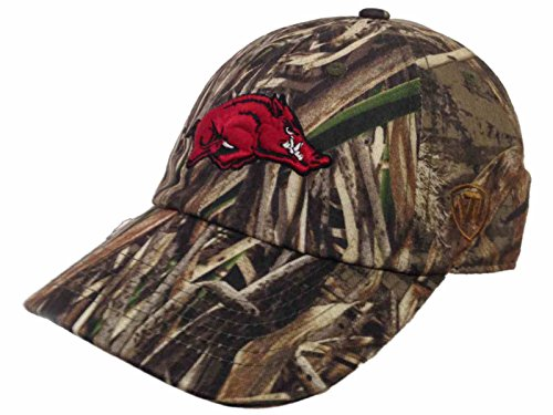Top of the World Arkansas Razorbacks Tow Realtree Max-5 Camouflage Crew Adjustable Slouch Hat Cap
