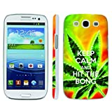 Mobiflare, Slim Clip-on Phone Case, for [Samsung Galaxy S3] - Keep Calm Hit the Bong