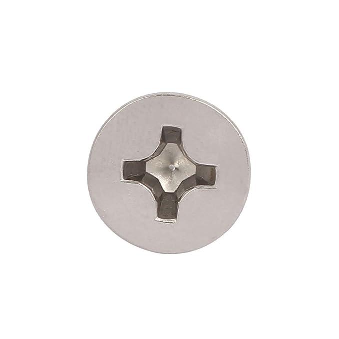 sourcing map M4x20mm acier inox 316 cruciforme vis m/étal t/ête plate 25PCS