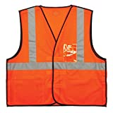 Ergodyne GloWear 8216BA ANSI High Visibility Breakaway Reflective Safety Vest with ID Badge Holder, Orange, Large/X-Large