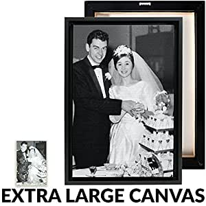 Your Photo Professionally Restored, Printed, and Framed on Premium Canvas - Extra Large Size
