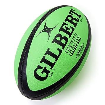 GILBERT Zenon - Balón de Rugby, 5, Lme/Blk: Amazon.es: Deportes y ...