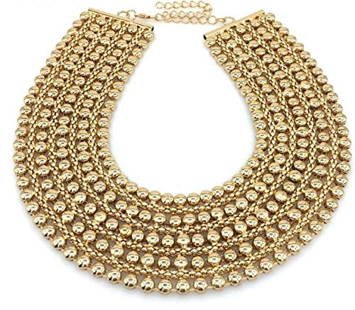 - Metal Beads Chunky Maxi Necklaces For Women 2018 Fashion Choker Collar Statement Necklace Vintage Jewelry Wedding Party