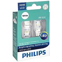Philips 921 Ultinon LED Bulb (White), 2 Pack
