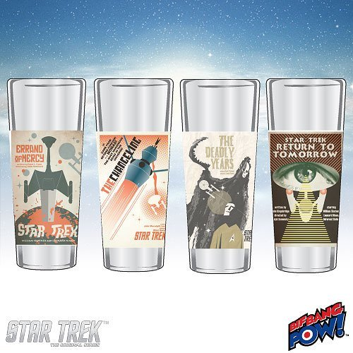 Star Trek The Original Series Fine Art Shot Glasses Set 17 (Star Trek The Original Series The Changeling)