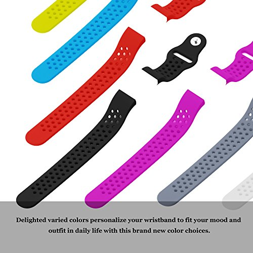 Hanlesi Fitbit Charge 2 Bands , Replacement Fitness Accessory Silicone Wristband Fashion Colorful Sport Strap