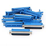 Aexit 10Pcs Parallel Port DB37 Male IDC Flat Ribbon Cable Connector