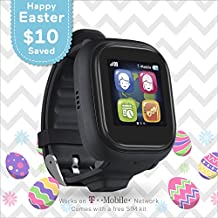 TickTalk 2.0 Touch Screen Kids Smart Watch, Easter Basket Stuffer, GPS Phone Watch, with New App, Top Rated Positioning Chip, Things To Do Reminder, Phone/Messaging (SIM CARD INCLUDED)(Black)