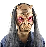 Horror Masks Scary Mask Halloween Toothy Zombie With Long Hair Devil Ghost Mask