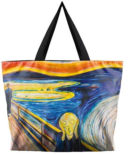 Kuyou Women's Designs Print Handbags Shoulder Bags (Van Gogh painting)