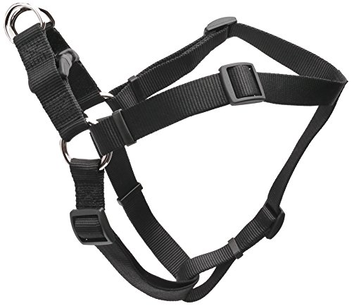 Coastal Pet Products DCP6945BLK Nylon Comfort Wrap Adjustable Dog Harness, 1-Inch, Black