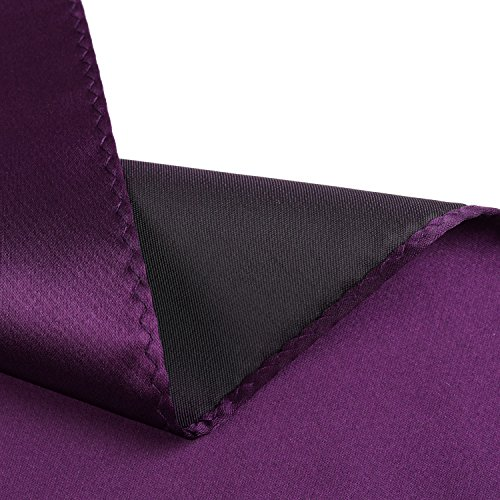 2adc2bdb5c76 Fortunatever Classical Men's Solid Necktie With Gift Box+Pocket Square  (Plum Purple) by