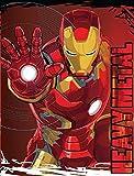 Iron Man Heavy Metal Plush Throw Blanket the Avengers 46 X 60