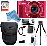 Canon PowerShot SX620 HS Digital Camera (Red) with 32GB Ultimate DigitalAndMore Deluxe Bundle