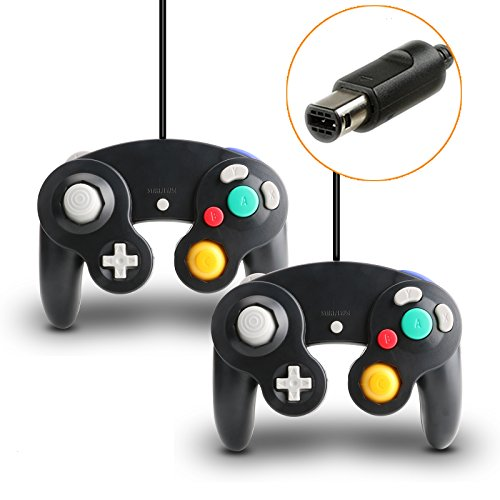 Video Games : Gamecube Controller, 2 Packs Classic Wired Controllers Compatible with Wii Nintendo Gamecube