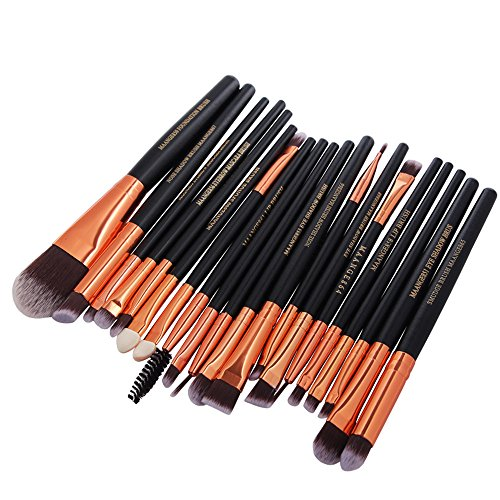 OTTATAT 2019 Popular Promotion 20Pc Makeup Brushes Set Powder Foundation Eyeshadow Eyeliner Lip Cosmetic Brush liquid essential case shadow 16pcs shadow cruelty-free synthetic master face liquid (Nature's Best Promotion Code 2019)