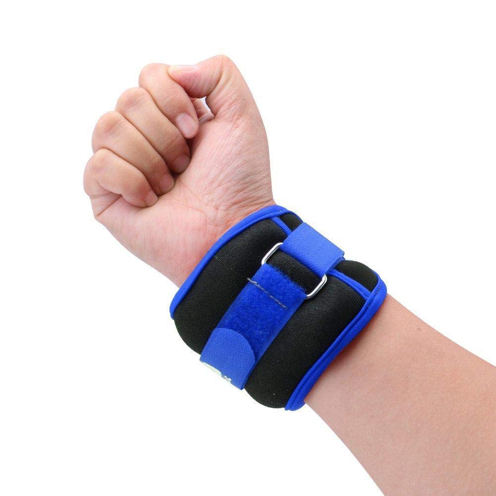 zhuyu 1pc Adjustable Wrist Ankle Weights Iron Sand Bag Weights Straps with Neoprene Padding for for Exercise Fitness Running