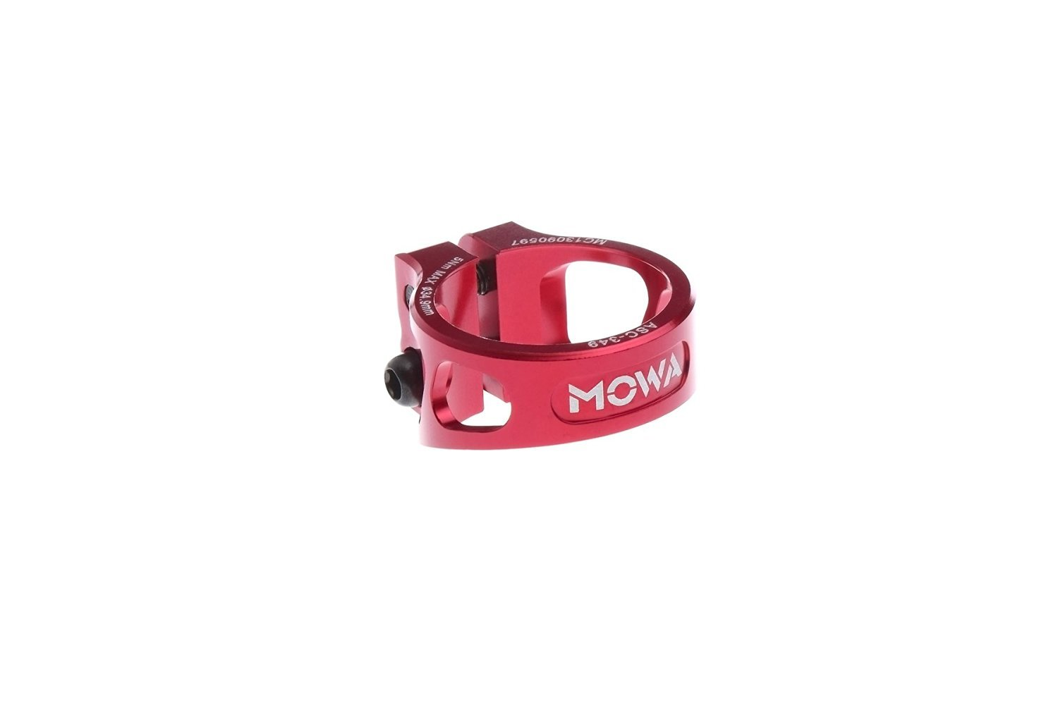 MOWA ASC Road Cyclocross CX Mountain Bicycle MTB Bike Cycling Alloy Seatpost Clamp 31.8 and 34.9 (Red, 34.9mm) by MOWA