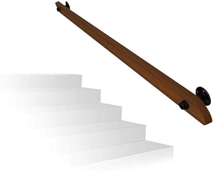 Barandillas Baranda de escalera de barandilla pasamanos, Negro Industrial Hierro Tubería Loft escalera Baranda, montado en la pared interior de ancianos AntiSlip Baranda, pasillo de acceso Balaustrada: Amazon.es: Hogar