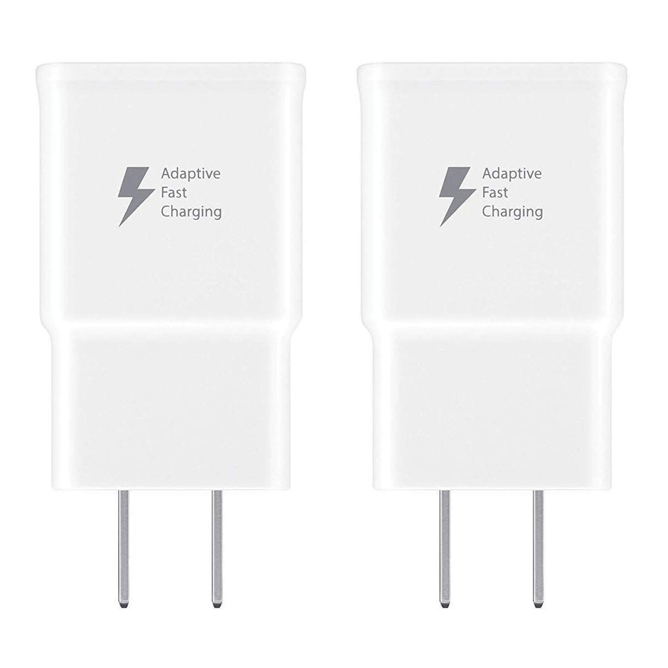 Spater Adaptive Fast Charging Wall Charger Compatible with Samsung Galaxy Note9 // Note8 // Note5 // S10 // S9 // S8 // S8 // S7 // S6 Plus White Galaxy S8 Active and More 2 Pack