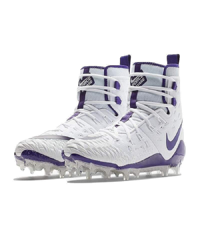 Nike Men's Force Savage Elite TD Football Cleat (7.5, 白い/Court 紫の)