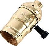 Tools & Hardware : GE 3-Way Lamp Socket, Gold 54372