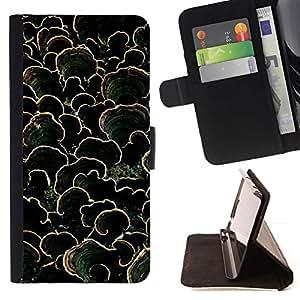 LG Magna / G4C / H525N H522Y H520N H502F H500F (G4 MINI,NOT FOR LG G4)Case , Diseño natural verde oscuro de verano- la tarjeta de Crédito Slots PU Funda de cuero Monedero caso cubierta de piel