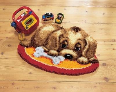 Vervaco KK37052 Knüpfteppich Motiv Hund