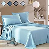 Bedding Sets Queen Size Baby Blue - Extremely Soft Bed Sheets Set Deep Pockets - 100% Brushed Microfiber 1800 Bedding Sheets  by MELODIE DIRECT