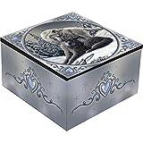 Nemesis Now Mirror Box - Lisa Parker Snow Kisses - Wolf Trinket Box