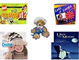 Girl's Gift Bundle - Ages 6-12 [5 Piece] - Scene It? Nickelodeon DVD Board Game - Waddle We Doo Lots of Loops Potholders Weaving Loom Kit - Papel Freelance Bearly Scary A Bear In Disguise Plush - Fa