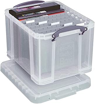 Really Useful Stackable 19 Litre Suspension File Office Home Storage Boxes Arts