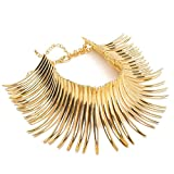 Fashion Sparkling Canine Shape Short Choker Collar Statement Necklace