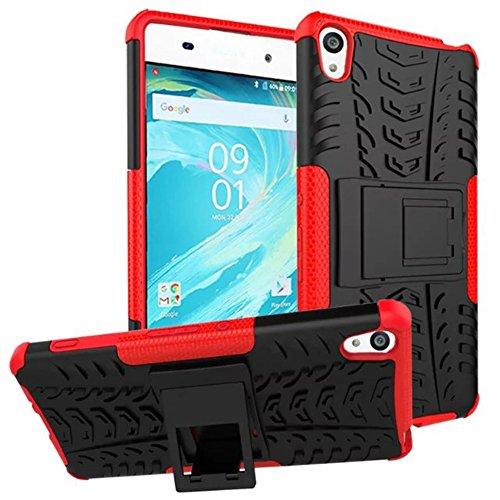 Sony Xperia XZ Premium Funda, 2in1 Armadura Combinación A Prueba de Choques Heavy Duty Escudo Cáscara Dura para Sony Xperia XZ Premium (Azul) Rojo
