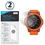 Nixon Mission Screen Protector, BoxWave [ClearTouch Crystal (2-Pack)] HD Film Skin - Shields From Scratches for Nixon Mission