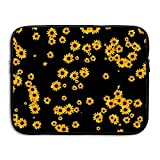Business Briefcase Sleeve Sunflower Floral Pattern Laptop Sleeve Case Cover Handbag for 13 Inch MacBook Pro/MacBook Air/Asus/Dell/Lenovo/Hp/Samsung/Sony