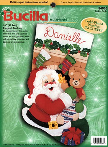 (Bucilla Stocking Stuffer Jeweled Felt Christmas Stocking Kit 84060 )